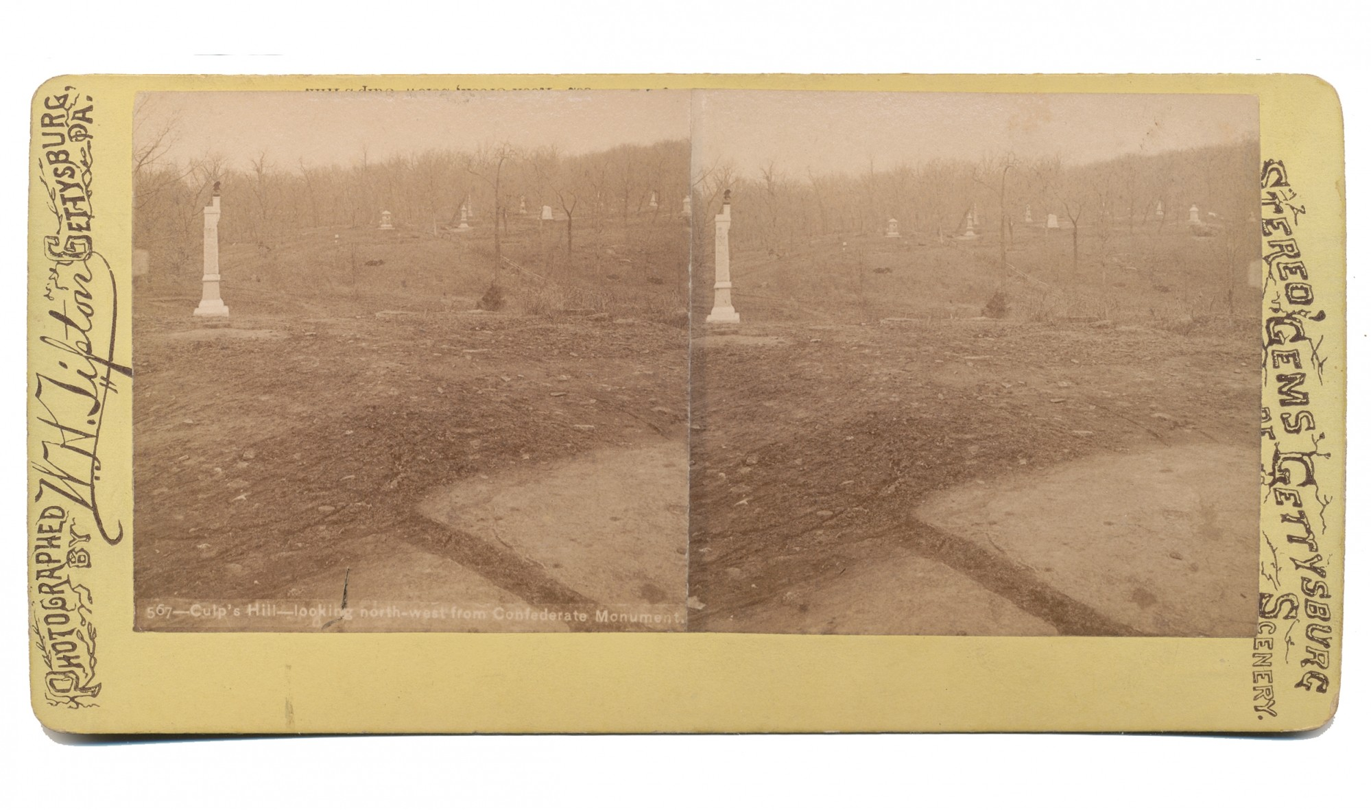 TIPTON STEREO VIEW OF CULP'S HILL