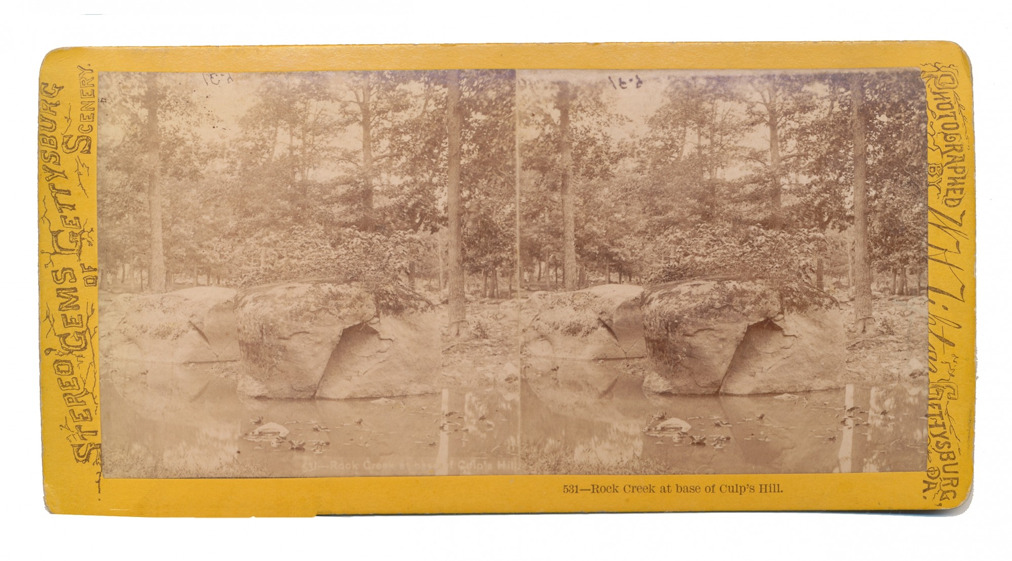 TIPTON STEREO VIEW OF ROCK CREEK