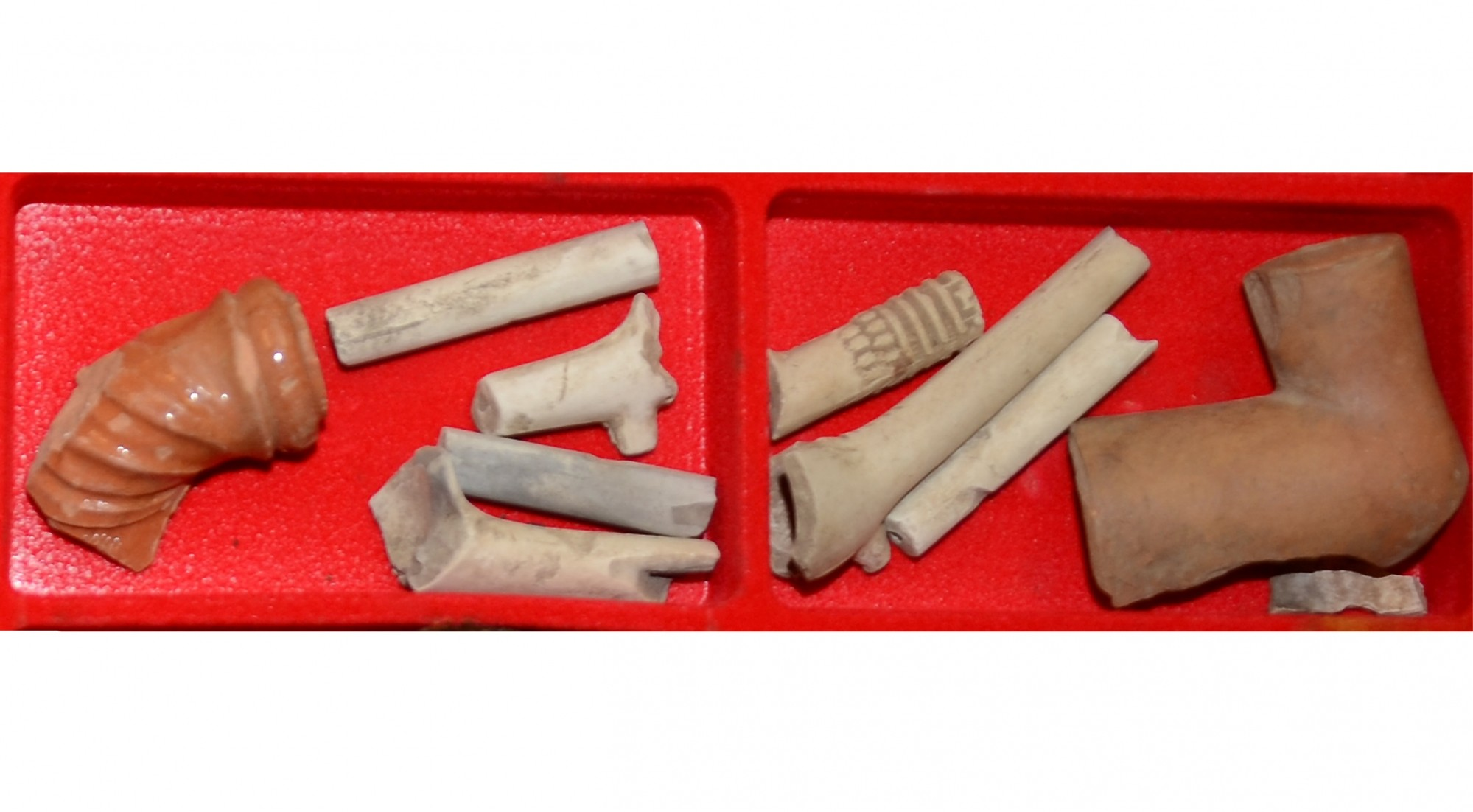 COLLECTION OF CLAY PIPE STEMS FROM GETTYSBURG