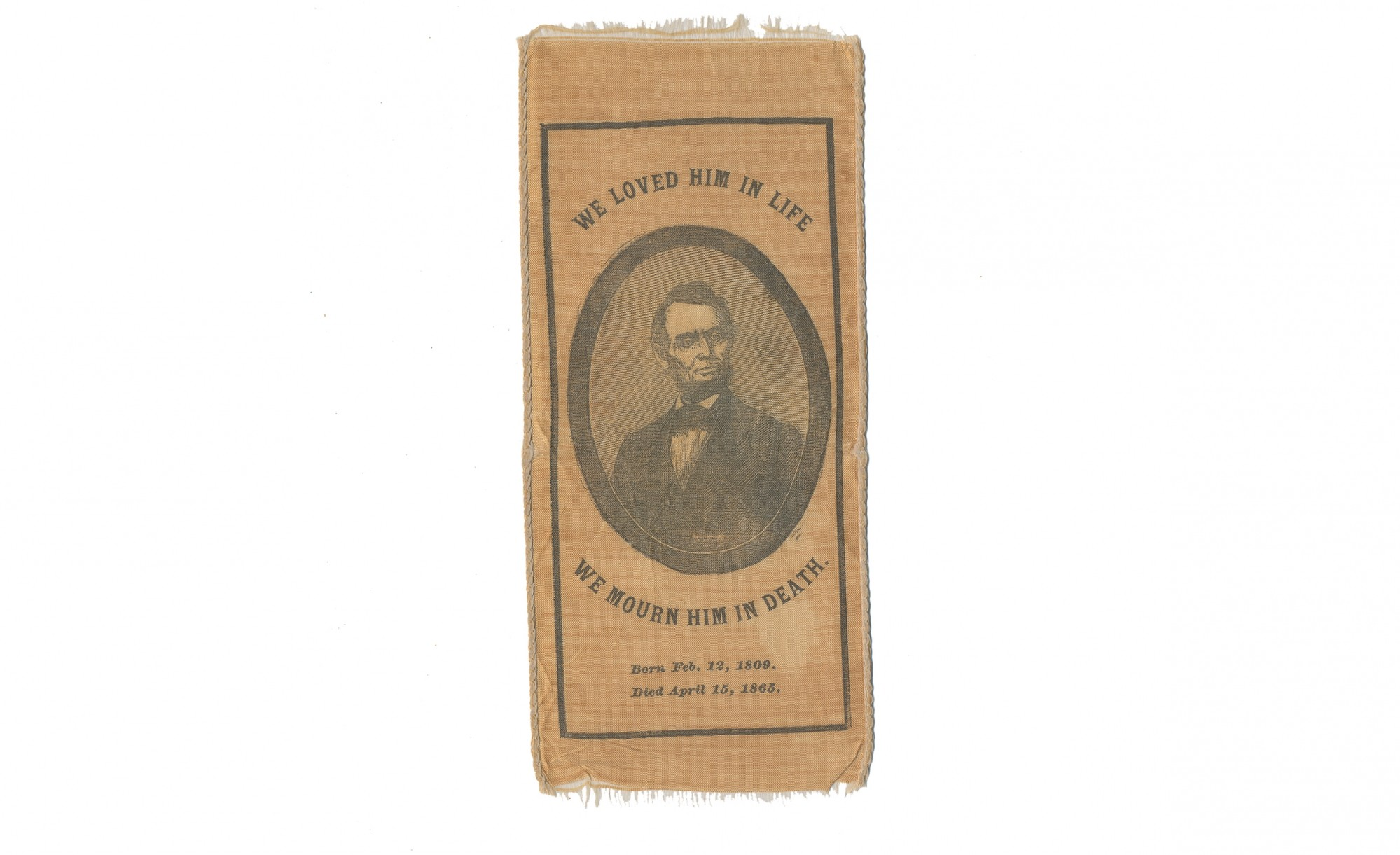LINCOLN MOURNING RIBBON