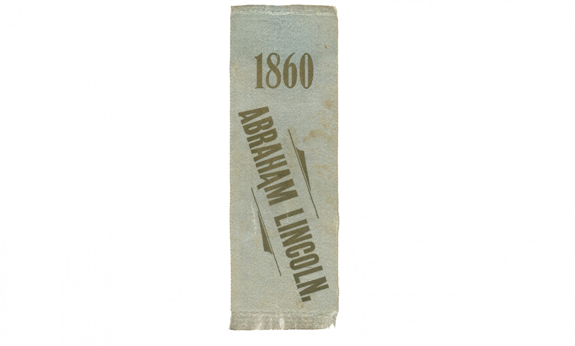 LINCOLN 1860 ELECTION RIBBON