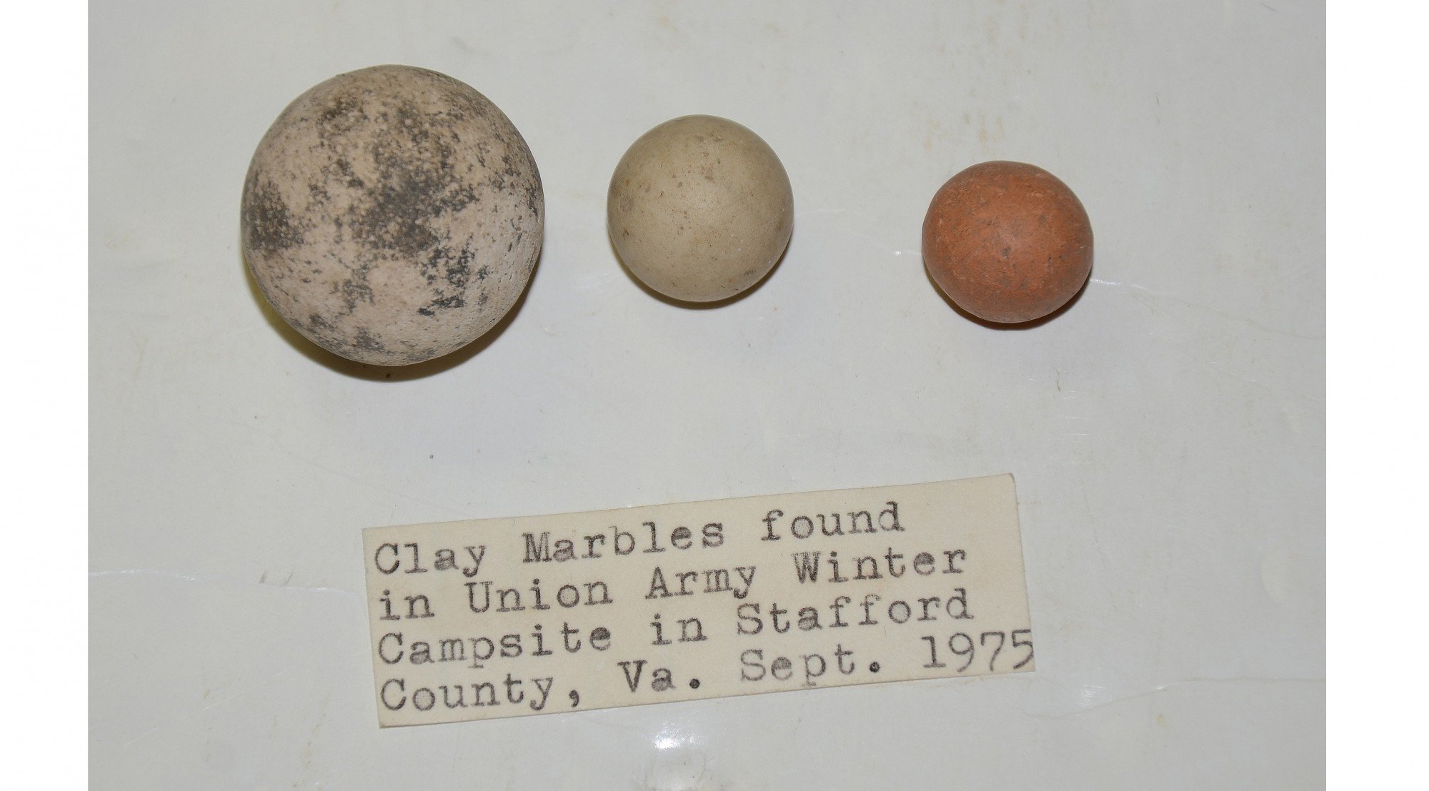 CLAY MARBLES FROM UNION ARMY CAMP