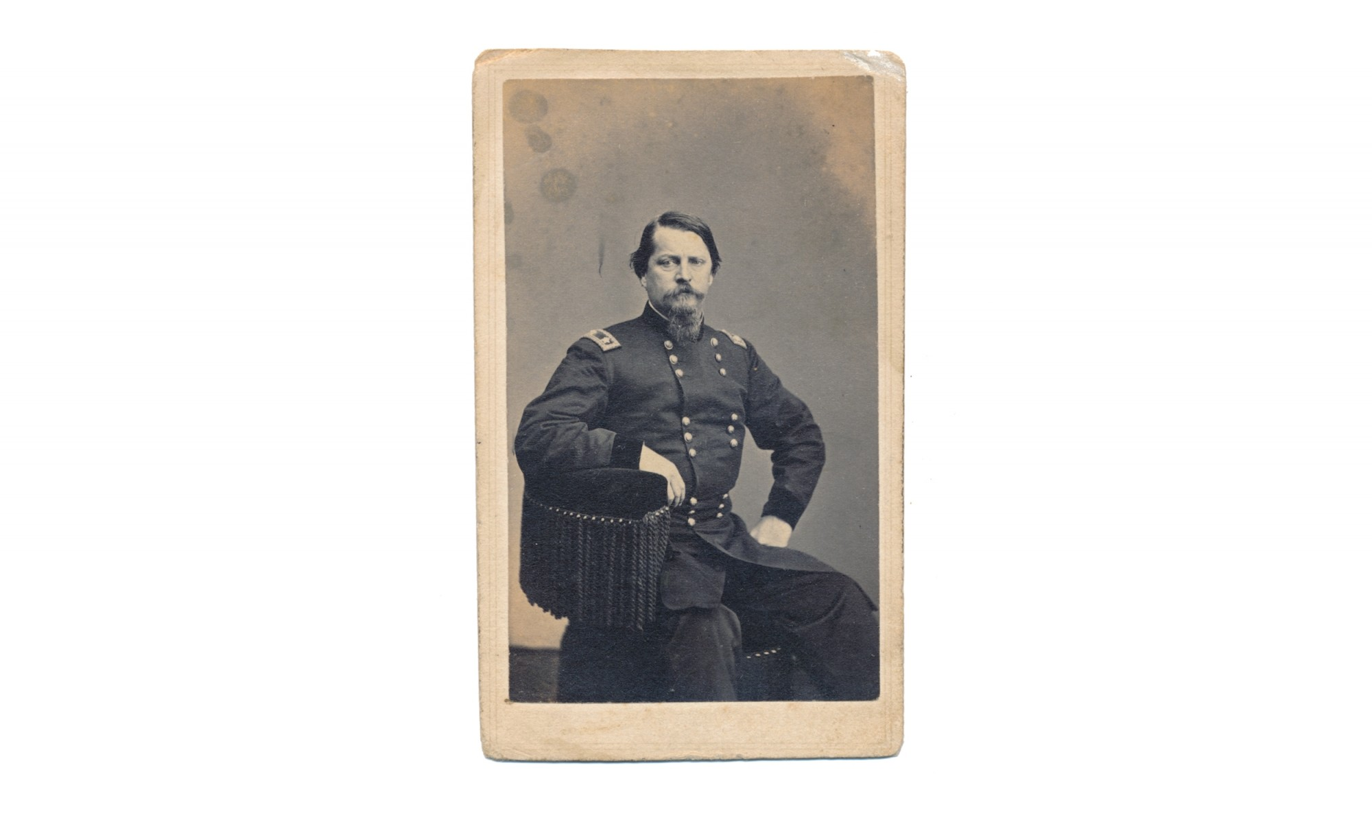 CDV RARE SEATED VIEW OF MAJOR GENERAL WINFIELD SCOTT HANCOCK