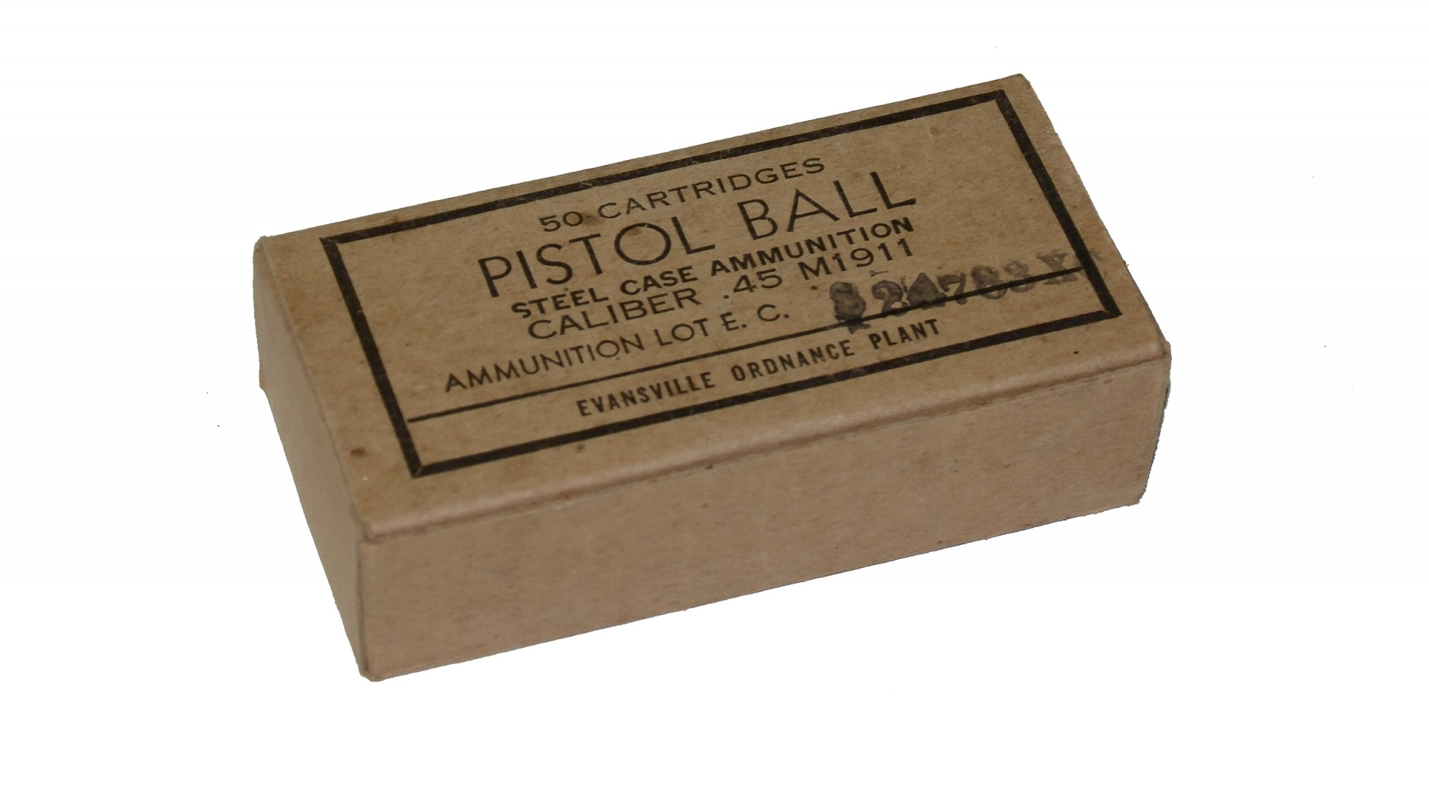FULL CARTON OF 1943 DATED .45 AMMUNITION