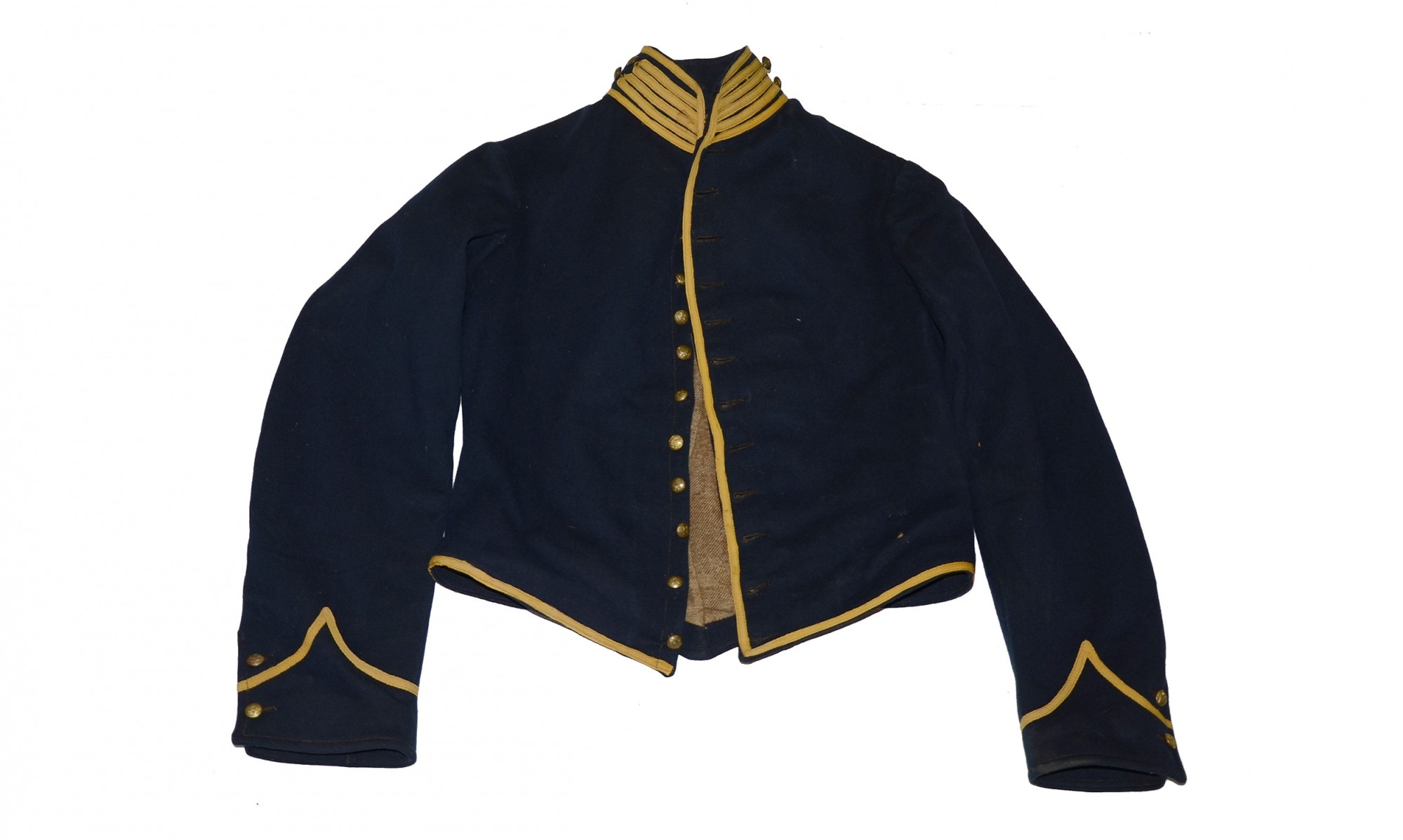 FINE, GOVERNMENT-INSPECTED, FEDERAL CAVALRYMAN'S UNIFORM SHELL JACKET