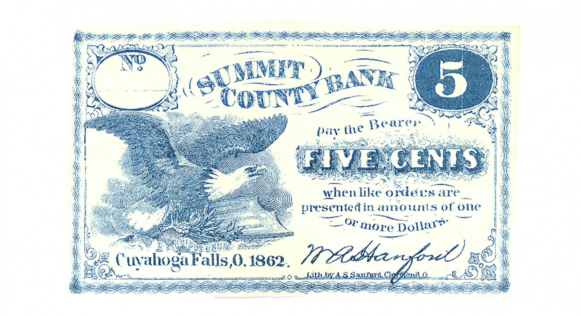 THE SUMMIT COUNTY BANK, OHIO, $.05 NOTE