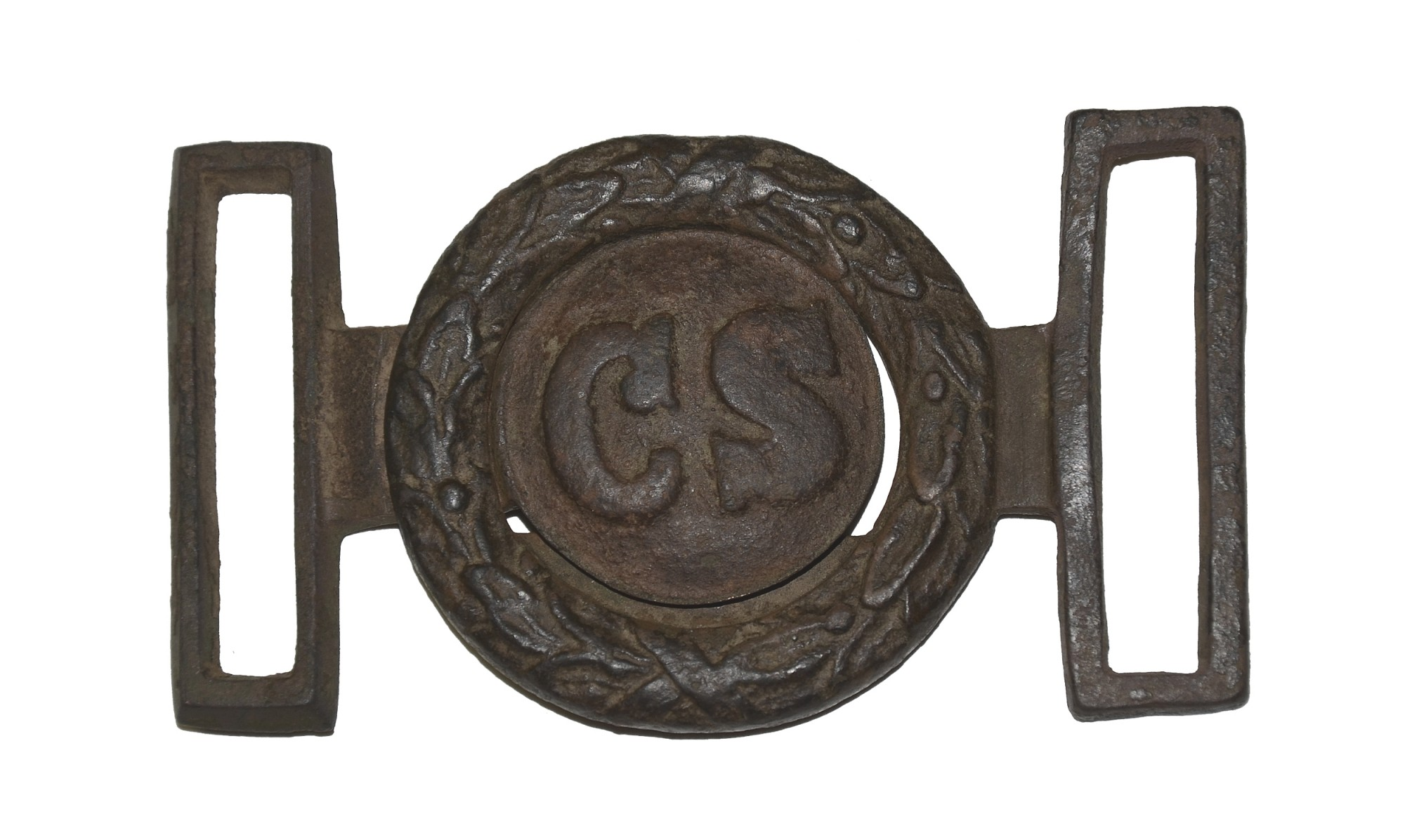 """CS"" TWO-PIECE VIRGINIA-STYLE STYLE BELT BUCKLE"