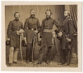 MOUNTED ALBUMEN - MAJOR GENERAL GEORGE STONEMAN, USA, & STAFF