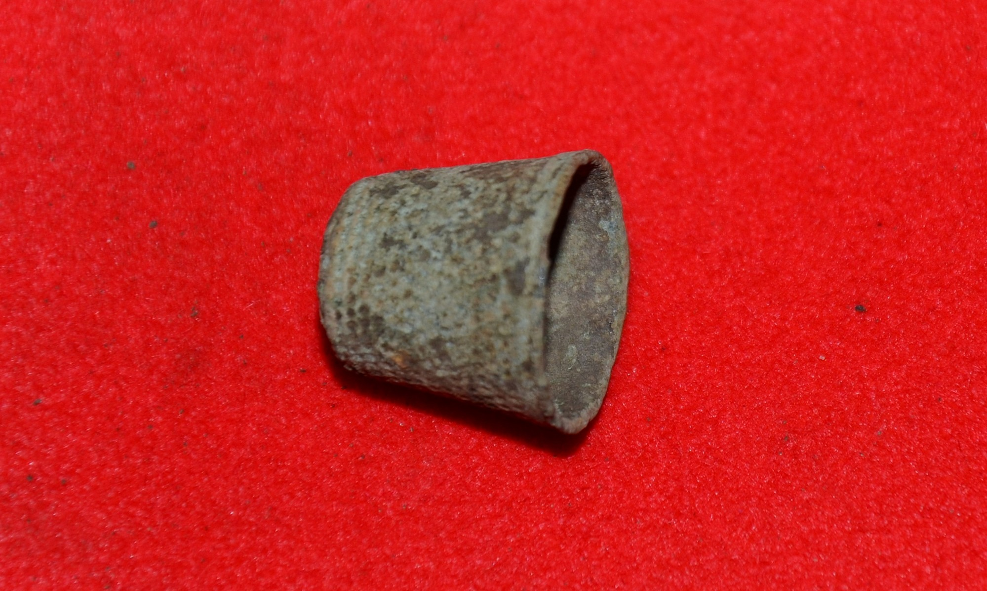 SMALL BRASS THIMBLE FROM GETTYSBURG