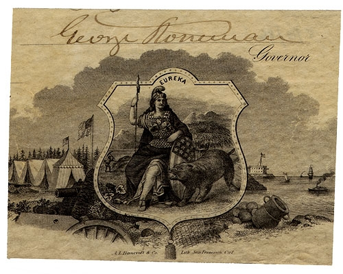 POST-WAR CLIPPED SIGNATURE - GEN. GEORGE STONEMAN, AS GOVERNOR OF CALIFORNIA
