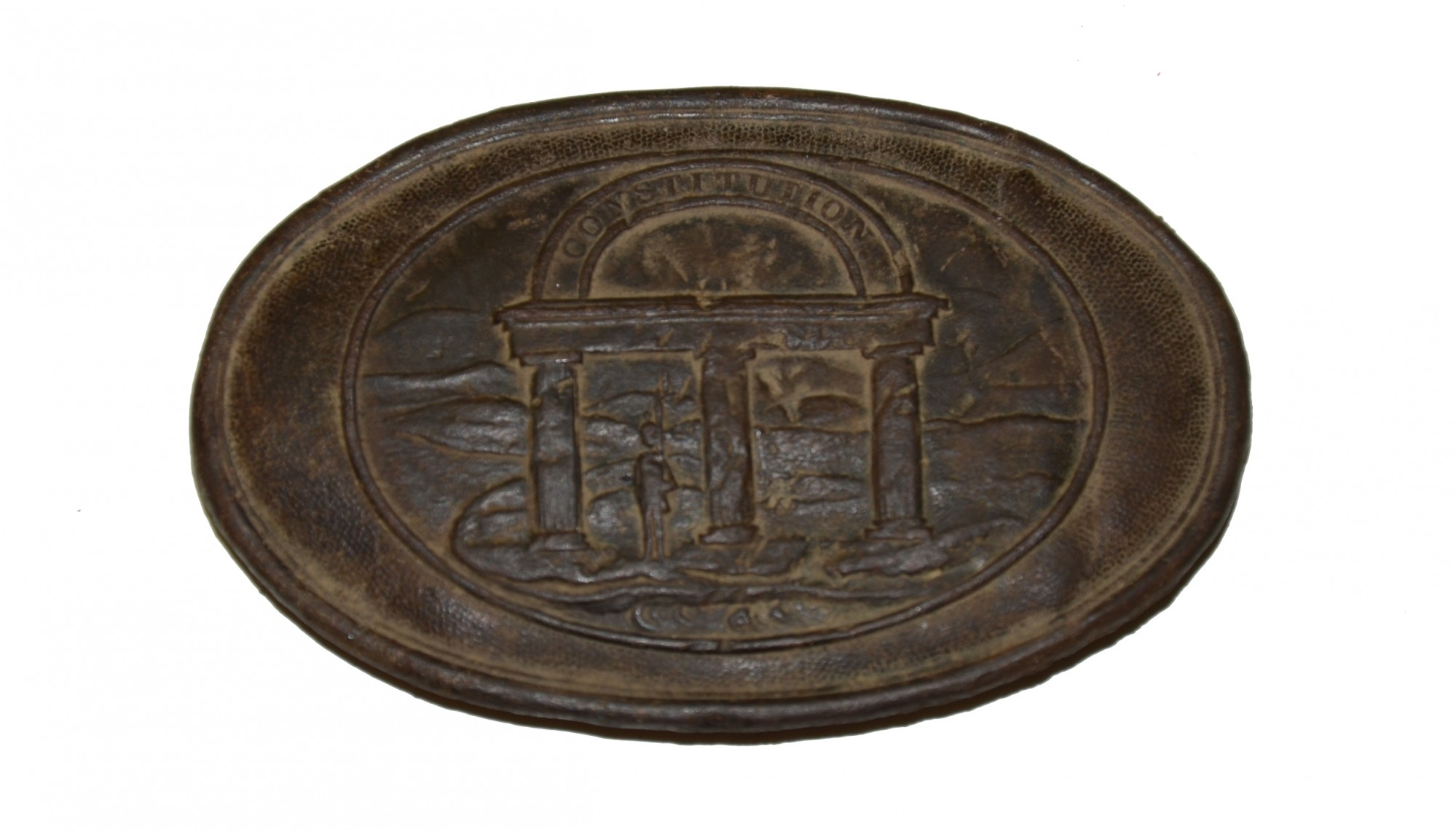 OVAL GEORGIA STATE SEAL BELT PLATE