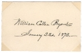 SIGNATURE - WILLIAM CULLEN BRYANT