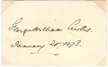 SIGNATURE - GEORGE WILLIAM CURTIS, AUTHOR & ORATOR