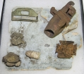 FIELD MADE 5TH CORPS BADGE & RELICS - BLOODY ANGLE, SPOTSYLVANIA