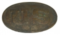 GETTYSBURG-DUG U.S. MODEL 1839 PATTERN FEDERAL INFANTRY CARTRIDGE BOX PLATE FROM LITTLE ROUND TOP