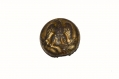 RARE, EXCAVATED CONFEDERATE GENERAL STAFF OFFICER'S UNIFORM BUTTON