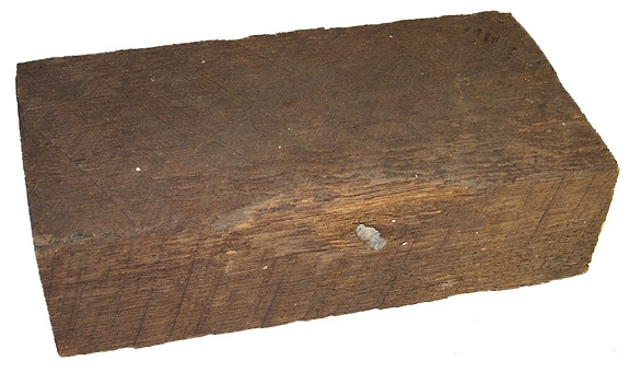 BULLET IN WOOD FOUND AT GETTYSBURG - GEISELMAN COLLECTION