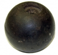 "CONFEDERATE 4.52"" 12 POUNDER SPHERICAL SHELL - PITZER COLLECTION GETTYSBURG"