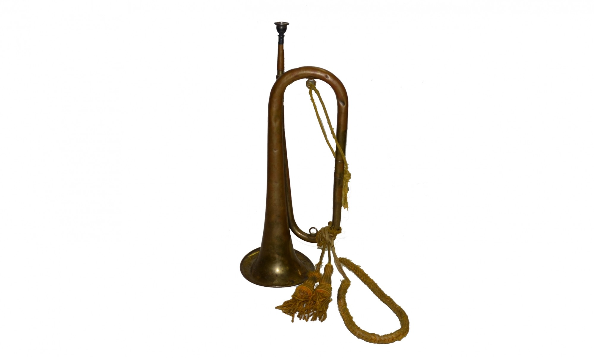 CIVIL WAR ERA IMPORTED BUGLE WITH CAVALRY CORD