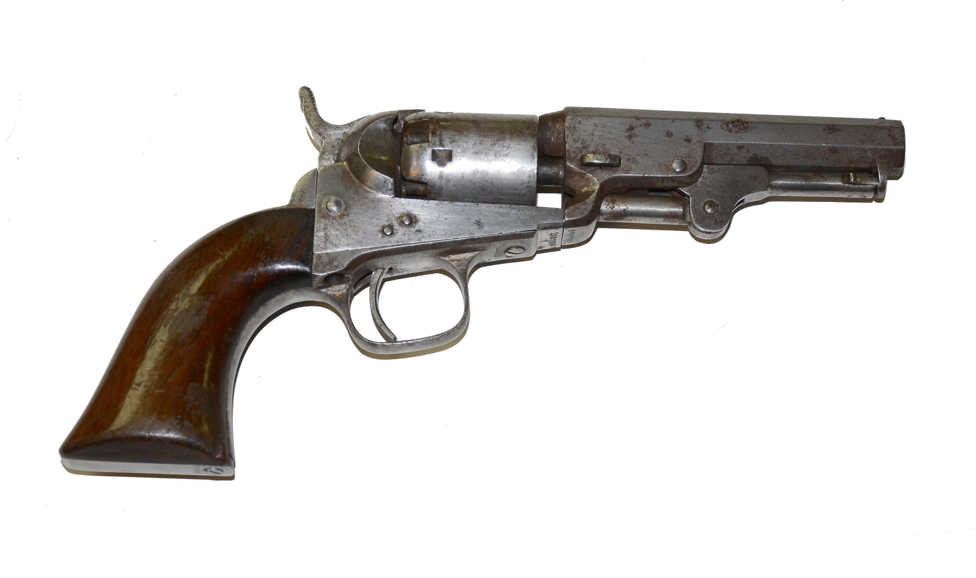 IRON FRAME COLT MODEL 1849 POCKET REVOLVER IN GOOD CONDITION
