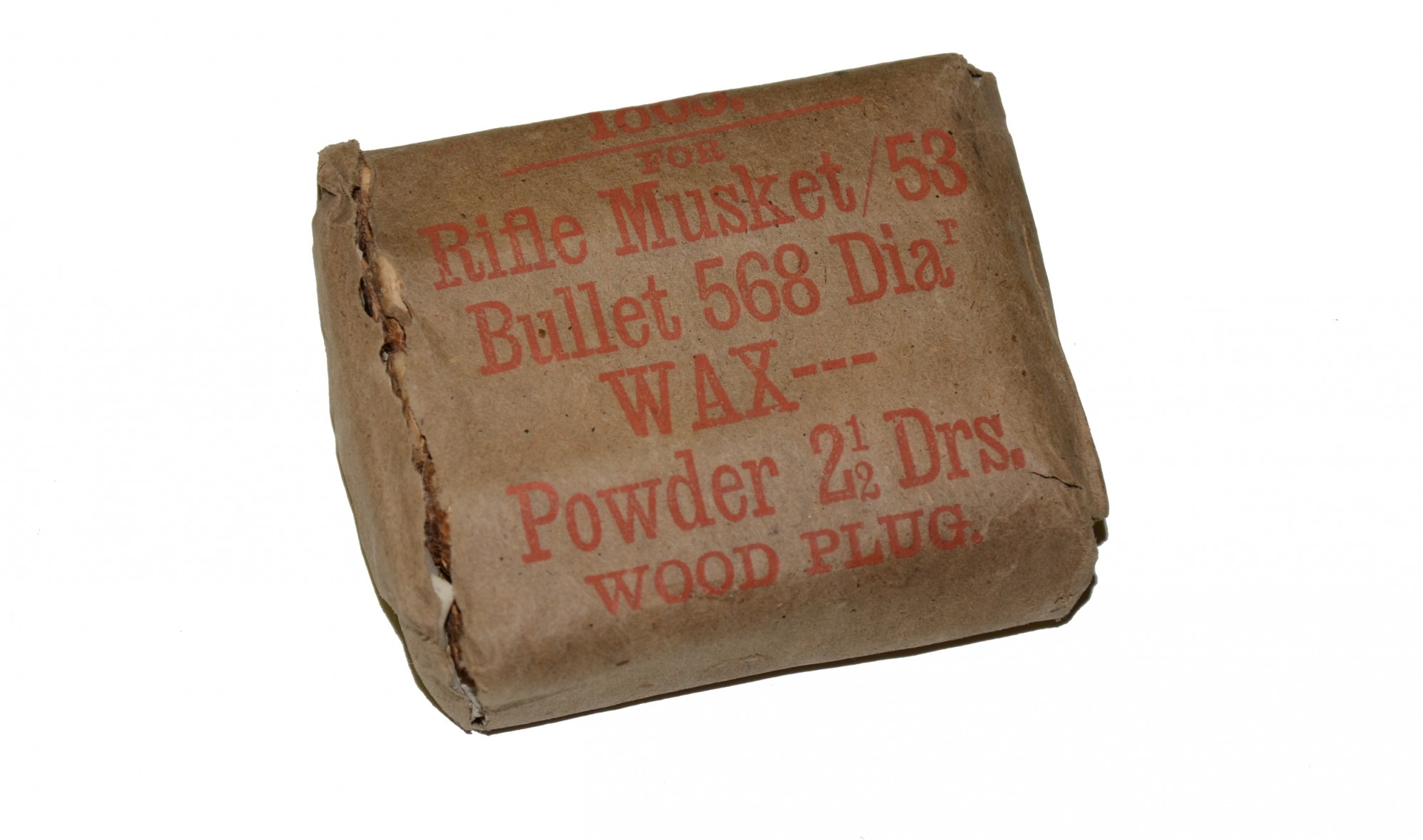 ORIGINAL, COMPLETE PACKAGE OF 'ENFIELD'.577 CALIBER PAPER CARTRIDGES