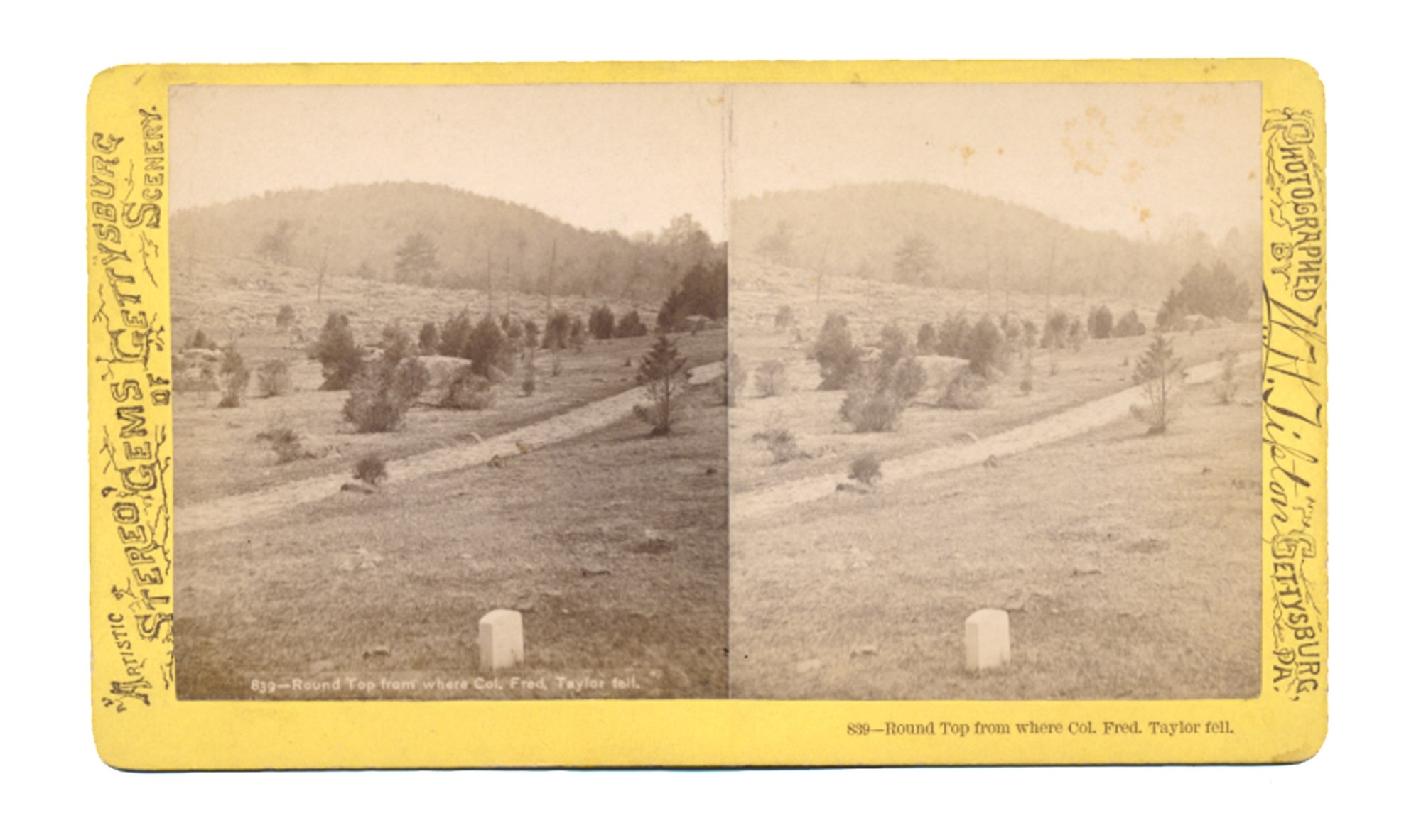 TIPTON STEREO OF BIG ROUND TOP & COL. TAYLOR MARKER