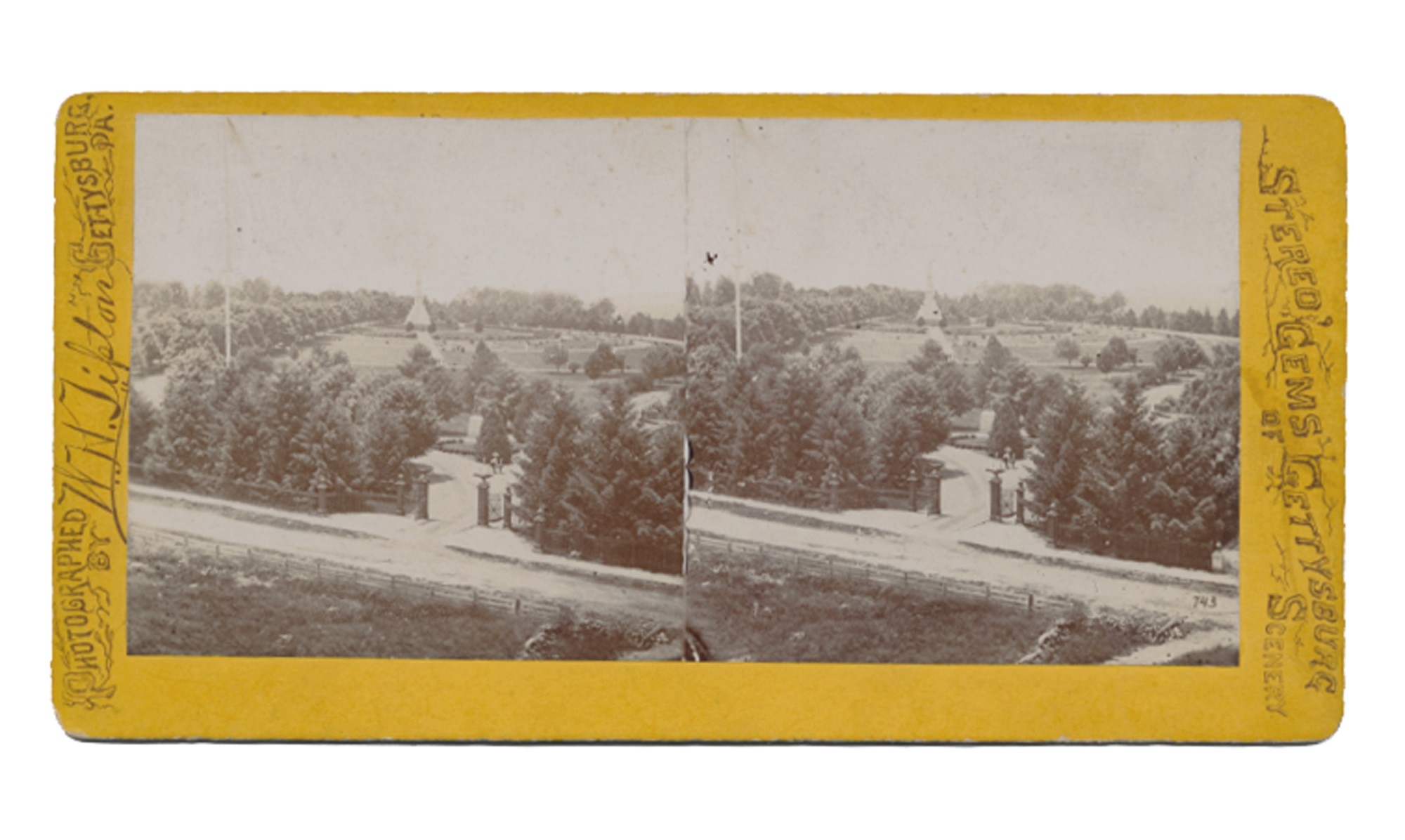 TIPTON STEREO OF SOLDIER'S NATIONAL CEMETERY, GETTYSBURG OF SOLDIER'S NATIONAL CEMETERY, GETTYSBURG