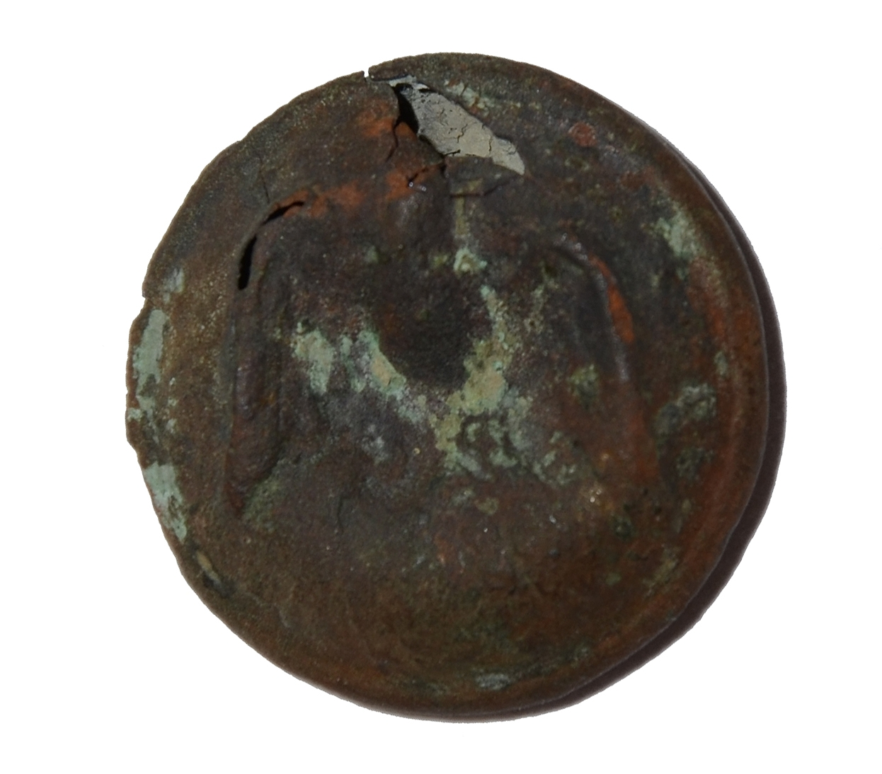 CONFEDERATE STAFF OFFICER'S BUTTON FROM GETTYSBURG