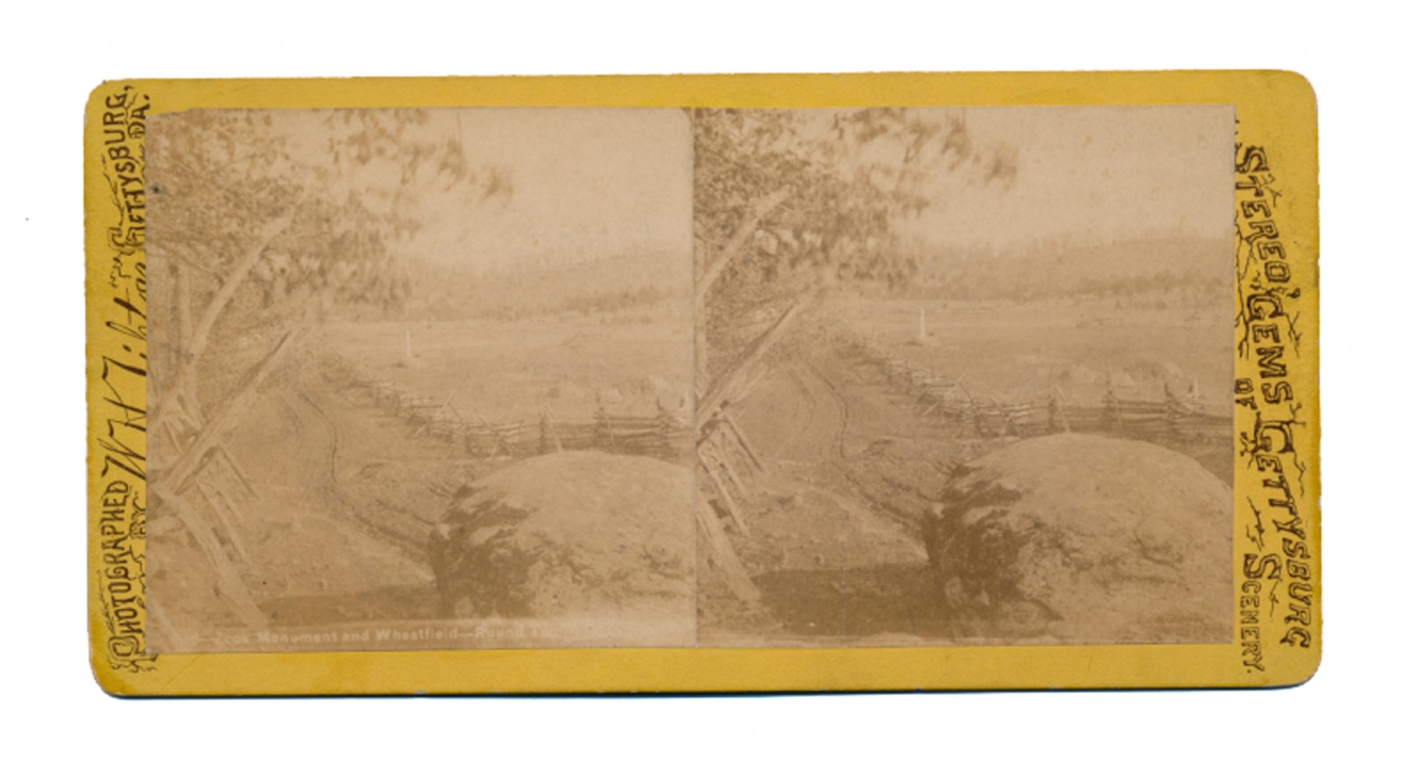 TIPTON STEREOVIEW OF THE WHEATFIELD & GENERAL ZOOK MARKER