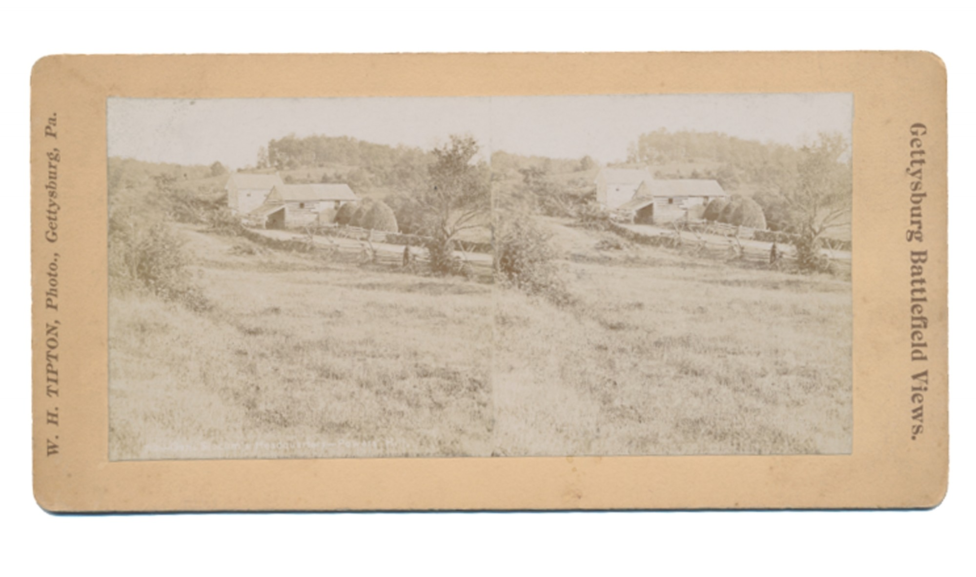 TIPTON STEREOVIEW OF THE LIGHTNER FARM ON THE BALTIMORE PIKE