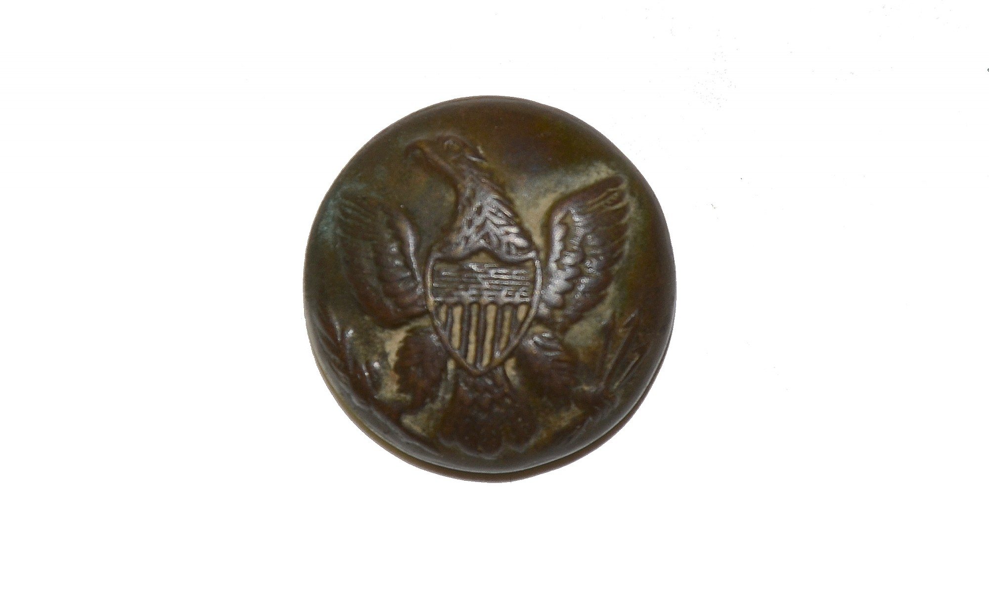 EAGLE BUTTON RECOVERED AT ROSE WOODS, GETTYSBURG