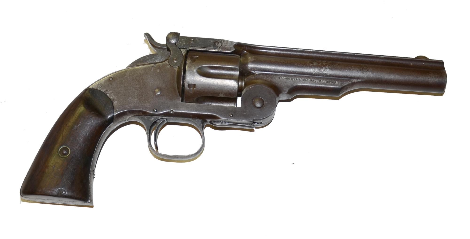 A SOLID SMITH & WESSON, SECOND MODEL SCHOFIELD.45 CALIBER SINGLE ACTION REVOLVER