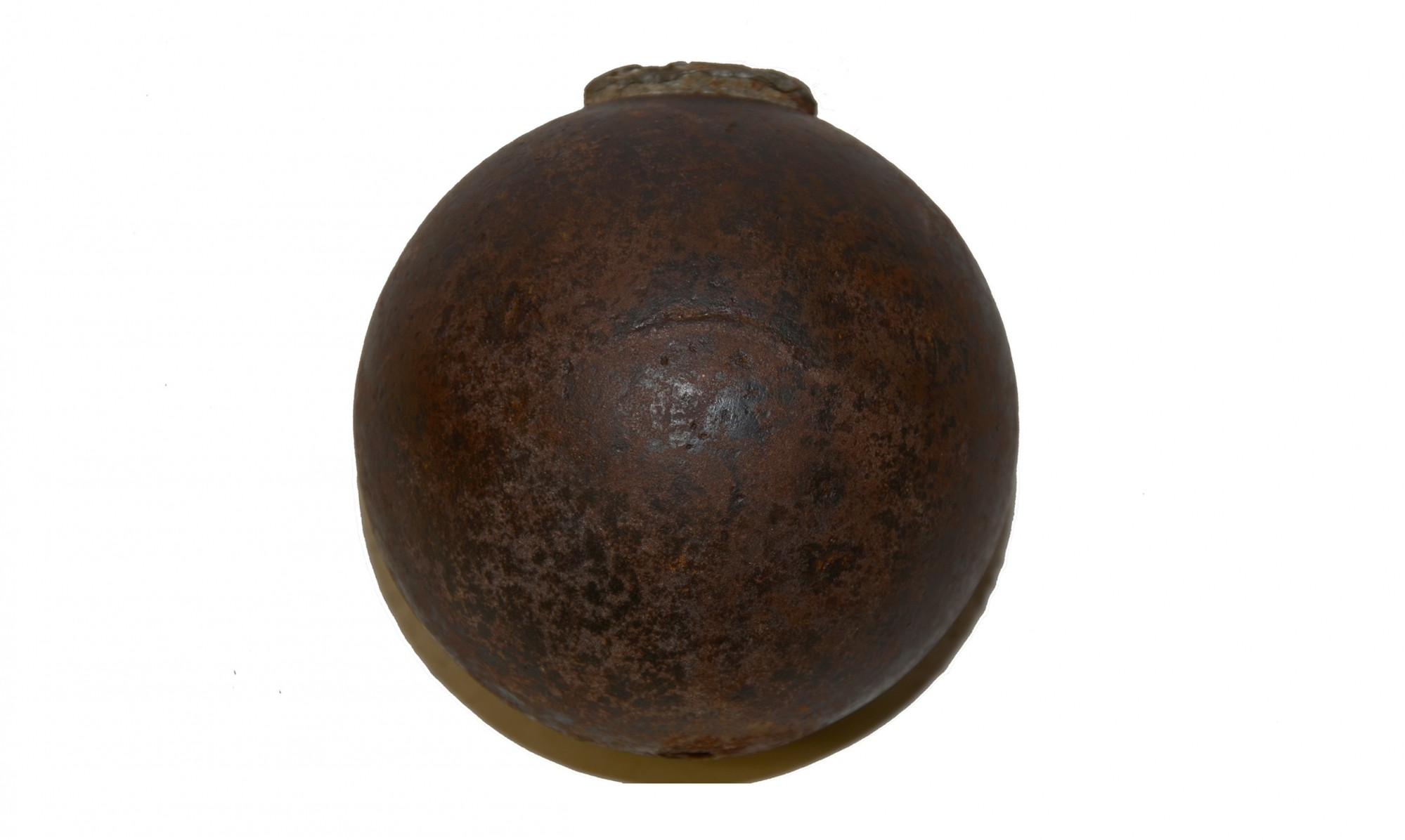 US 4.52 INCH 12 POUNDER BORMANN FUSED SPHERICAL SHELL