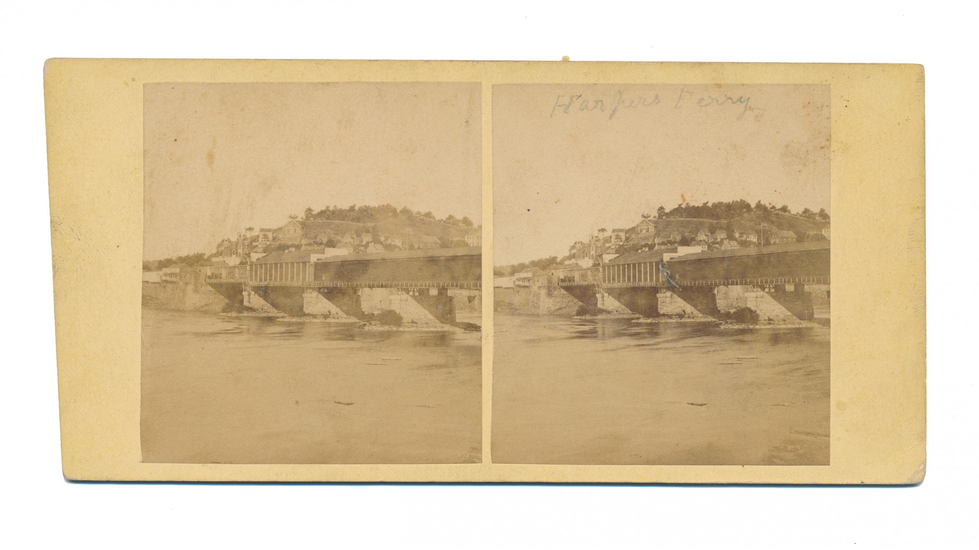 STEREO VIEW OF HARPERS FERRY