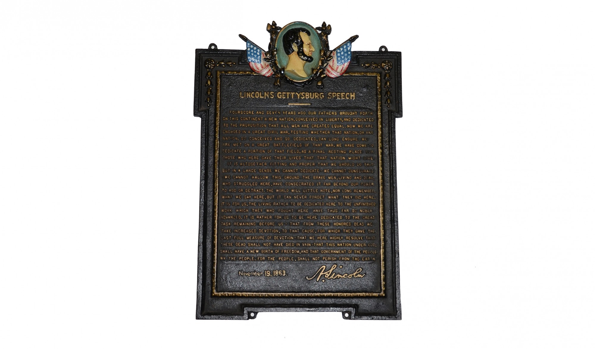 LINCOLN PLAQUE BY VICTOR DAVID BRENNER
