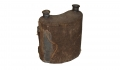 CIVIL WAR PERIOD, UNCONVENTIONAL, DOUBLE-SPOUTED TIN CANTEEN