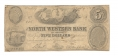 THE NORTH WESTERN BANK OF VIRGINIA, JEFFERSONVILLE, VA $5 NOTE