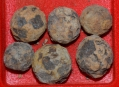 IRON CASE SHOT BALLS - JOHNS FARM, GETTYSBURG/ROSENSTEEL COLLECTION