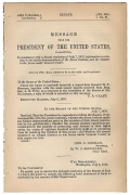 1876 CONGRESSIONAL DOCUMENT - CUSTER MASSACRE
