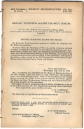 LITTLE BIG HORN - MILITARY EXPEDITION AGAINST THE SIOUX INDIANS. HOUSE OF REPRESENTATIVES. EX. DOC. NO. 184