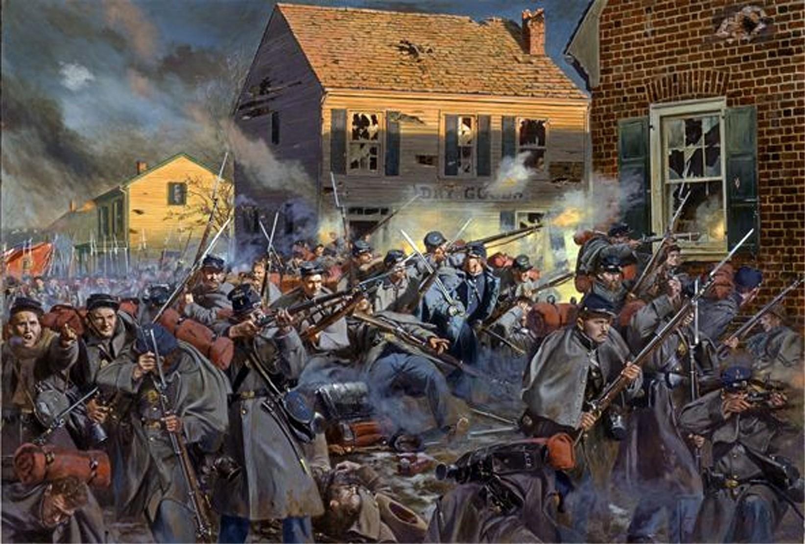 Fire On Caroline Street Battle Of Fredericksburg Don