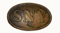 THIN LETTER STYLE STATE OF NEW YORK BELT PLATE