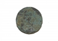 US/CS COIN FLAT CUFF BUTTON, RECOVERED 2ND CORPS HOSPITAL SITE NEAR POND – GETTYSBURG