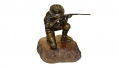 SCULPTURE OF A U.S. SPANISH-AMERICAN INFANTRYMAN, CA. 1900, BY CARL KAUBA