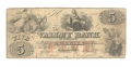 VALLEY BANK, HAGERSTOWN, MARYLAND, $5 NOTE
