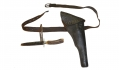 HOLSTER, BELT AND STAG HANDLED KNIFE