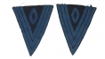 EXCELLENT PAIR OF SERGEANT'S CHEVRONS FROM A GROUPING OF PERSONAL EFFECTS IDENTIFIED TO MAJOR JAMES A. RANEY, 36TH NEW YORK INFANTRY