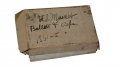 BOX OF CARTRIDGES IDENTIFIED TO PRIVATE FRANK ERSKINE OF CO. K, 7TH MASSACHUSETTS INFANTRY