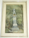 23RD PENNSYLVANIA VOLS., BIRNEY'S ZOUAVES-PAINTING OF THE REGIMENTAL MONUMENT AT GETTYSBURG