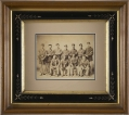 CIVIL WAR ALBUMEN - PORTRAIT OF SEVERAL FEDERAL MUSICIANS, SET IN A PERIOD WOOD FRAME